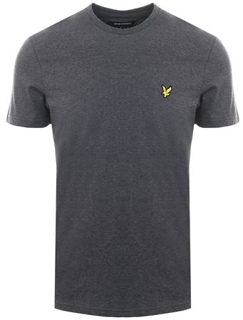 Lyle & Scott Charcoal Marl Crew Neck Short Sleeve T-Shirt  - Click to view a larger image