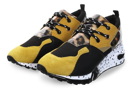Steve Madden Yellow Cliff Trainer  - Click to view a larger image