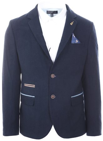 Fratelli Navy Smart Tweed Blazer  - Click to view a larger image