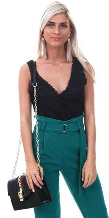 745fd08fe8 Glamorous Black Lace Deep V Neck Bodysuit     Shop the latest ...