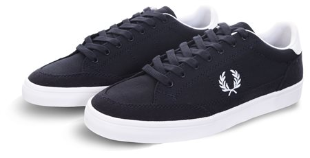 Fred Perry Navy Deuce Lace Up Canvas  - Click to view a larger image