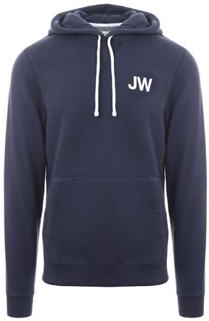 Jack Wills Navy Batsford Wills Popover Hoodie  - Click to view a larger image