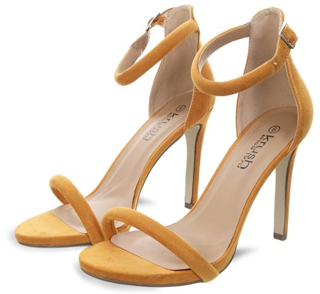 e386307cd17 Krush Mustard Barely There Pointed Heels