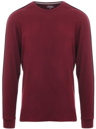 Threadbare Burnt Red L/Sleeve Racer T-Shirt  - Click to view a larger image