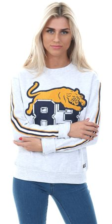 Superdry Ice Marl Emilie Applique Crew Jumper  - Click to view a larger image