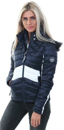 Superdry Lux Navy Offshore Luxe Chevron Fuji Jacket  - Click to view a larger image