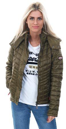 Superdry Urban Khaki Nova Box Quilt Fuji Jacket  - Click to view a larger image