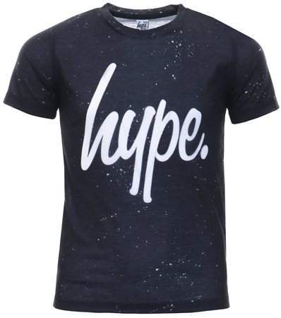 Hype Black/White Speckle T-Shirt  - Click to view a larger image