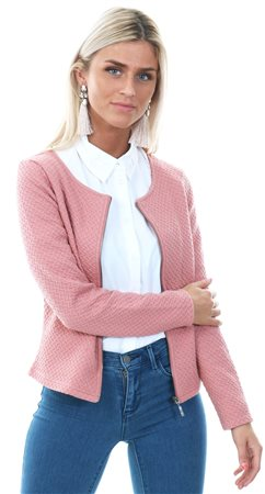 Vila Ash Rose Vinaja Cardigan Textured Jacket  - Click to view a larger image