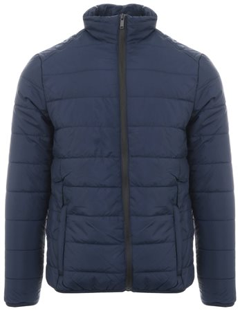 Brave Soul Navy Moritz Padded Zip Up Jacket  - Click to view a larger image