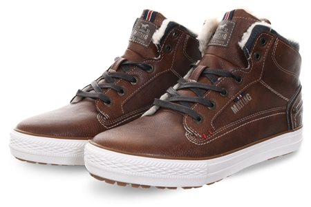 Mustang Chestnut Mid Lace Up Boot  - Click to view a larger image