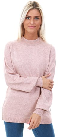 Vila Ash Rose Ril Balloon Knitted Top  - Click to view a larger image