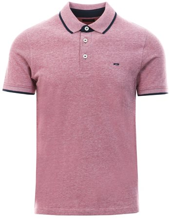 Jack & Jones Red Classic Polo Button Down Shirt  - Click to view a larger image
