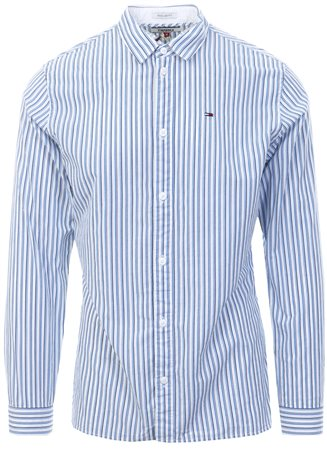 Hilfiger Denim White Essential Smart L/Sleeve Shirt  - Click to view a larger image