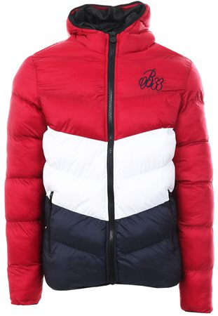 Bee Inspired Red/White/Navy Knox Puffer Jacket  - Click to view a larger image
