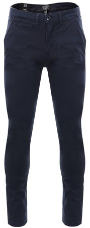 Threadbare Navy Boston Fitted Skinny Chino  - Click to view a larger image