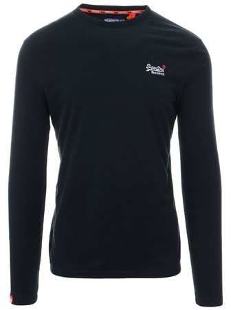 Superdry Eclipse Navy Orange Label Vintage Embroidery T-Shirt  - Click to view a larger image