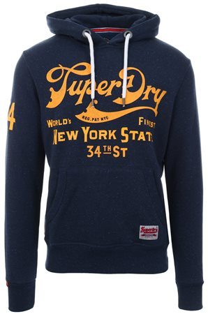 Superdry Montanna Blue 34th Street Hoodie  - Click to view a larger image