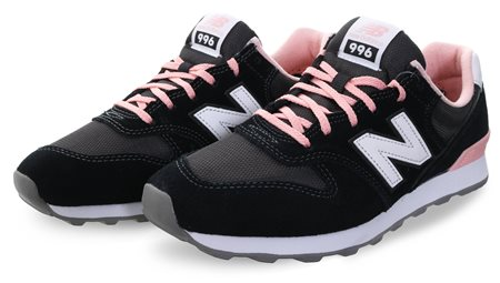 hot sale online 3e2fd 43ef0 Black 996 Classic Laced Trainer - 4