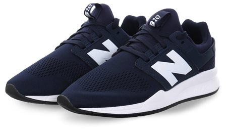 29ea8db5fe0 New Balance Navy 247 Classic Lace Up Trainer - Click to view a larger image