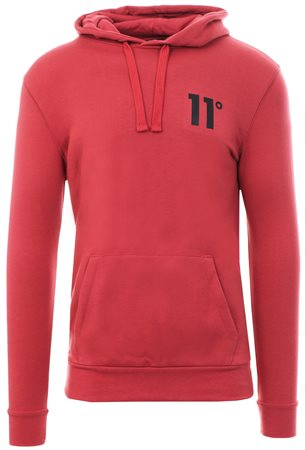11degrees Mineral Red Core Pull Over Hoodie  - Click to view a larger image
