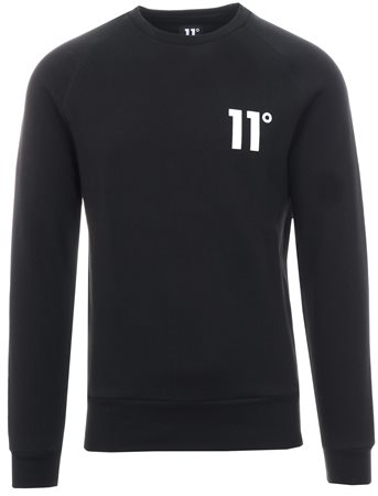 11degrees Black Core Pullover Crew Sweatshirt  - Click to view a larger image