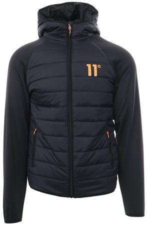 11degrees Navy Hybrid Zip Up Padded Jacket  - Click to view a larger image