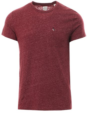 Jack Wills Burgandy Ayleford Damson S/Sleeve T-Shirt  - Click to view a larger image