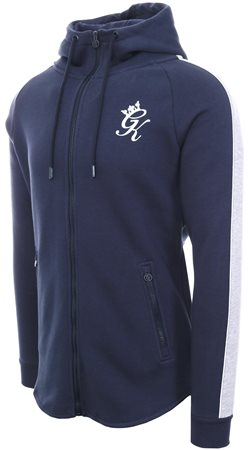 Gym King Navy Herrera Dipped Hem Tracksuit Top  - Click to view a larger image