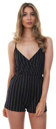 Qed Multi Wrap Over Metallic Playsuit  - Click to view a larger image
