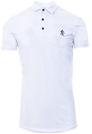 Gym King White Short Sleeve Jersey Polo Shirt  - Click to view a larger image