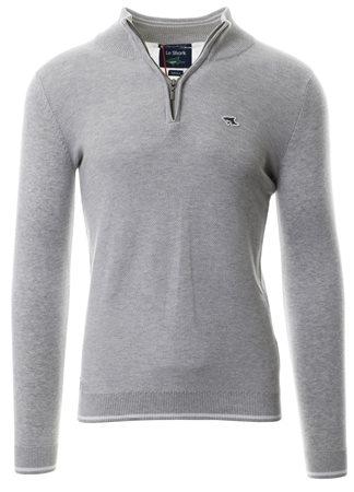 6cdf9d53b914 Le Shark Light Silver Long Sleeve Rodmell Zip Knit Sweater     Shop the  latest fashion online @ DV8