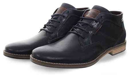 Bull Boxer Navy Ankle Boot Lace Up Shoe  - Click to view a larger image