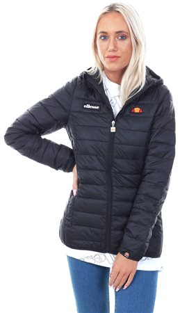 5c2b89cf574 Ellesse Black Lompard Zip Up Padded Jacket - Click to view a larger image