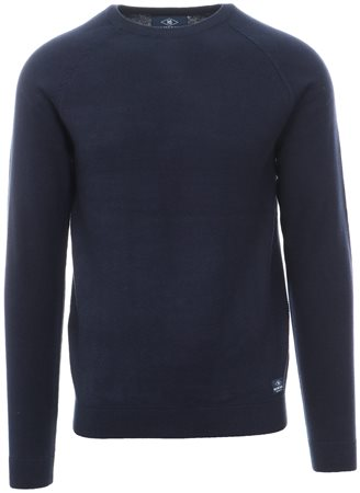 Holmes & Co Blue Depths Round Neck Knitted Sweater  - Click to view a larger image