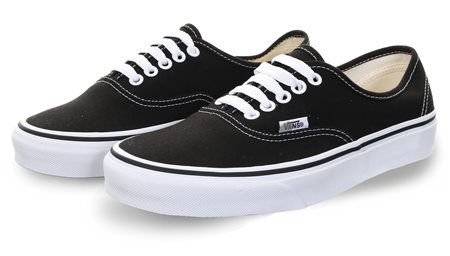 Vans Black / White Authentic Lace Up Trainer  - Click to view a larger image