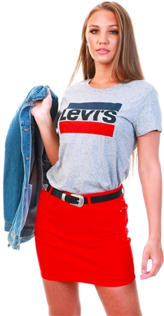 Levi's Smokestack - Grey The Perfect Graphic Tee  - Click to view a larger image