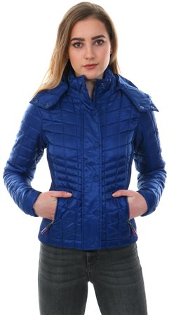 Superdry Triumph Blue Nova Box Quilt Fuji Jacket  - Click to view a larger image