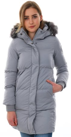 Superdry Grey Cocoon Parka Zip Up Jacket  - Click to view a larger image