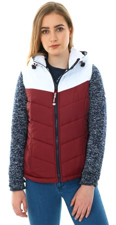 Superdry Navy Blizzard Storm Hybrid Colour Block Zip Hoodie  - Click to view a larger image