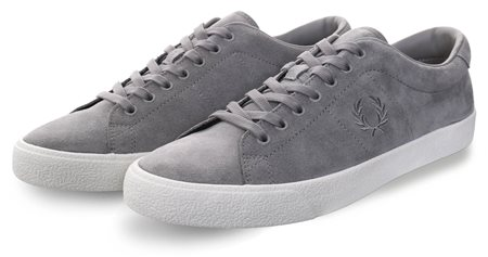 Fred Perry Falcon Grey Suede Crepe Lace Up Shoe  - Click to view a larger image