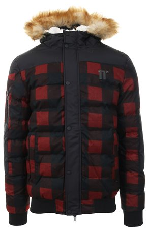 11degrees Red/Black Missile Heavy Bomber Jacket  - Click to view a larger image