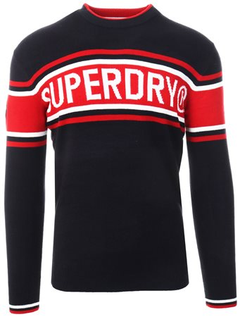 Superdry Navy Oslo Crew Sweater  - Click to view a larger image