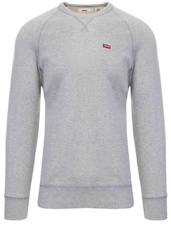 Levi's ® Medium Grey Heather - Grey Original Housemark Icon Crewneck  - Click to view a larger image