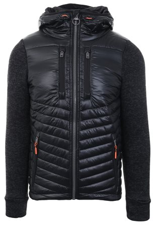 Superdry Black Granite Storm Hybrid Zip Hoodie  - Click to view a larger image