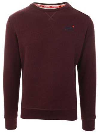 Superdry Burgundy Orange Label Sweatshirt  - Click to view a larger image