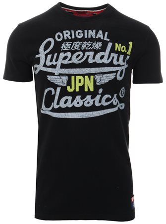 Superdry Black High Speed Heritage Classic T-Shirt  - Click to view a larger image