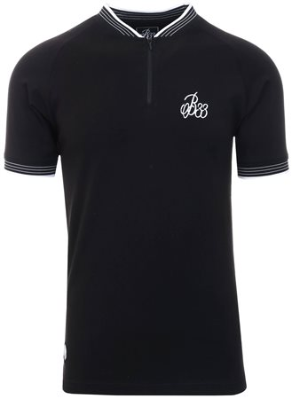 Bee Inspired Black Tono Polo S/Sleeve Shirt  - Click to view a larger image