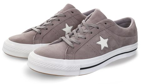 Converse Merc Grey One Star Nubuck Trainer  - Click to view a larger image