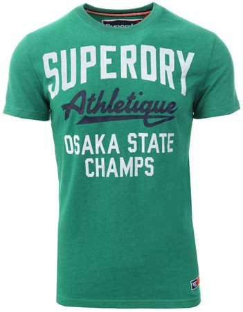 Superdry Vermont Green Heritage Classic T-Shirt  - Click to view a larger image
